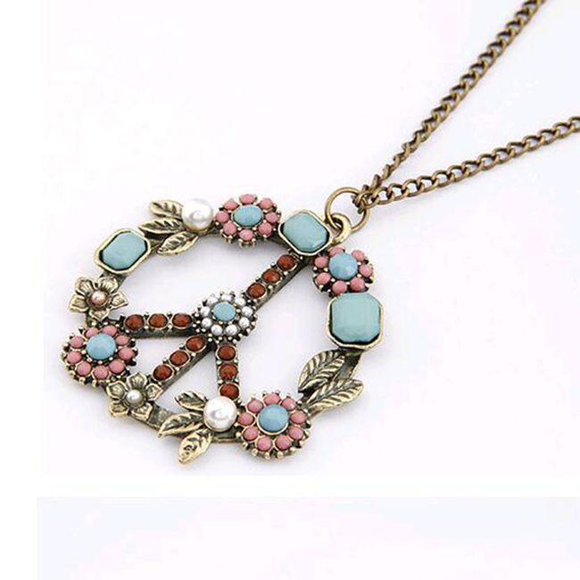 Dámský květinový hippie náhrdelník 1