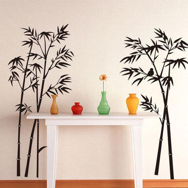 Nalepnica na zidu sa motivom bambusa 1