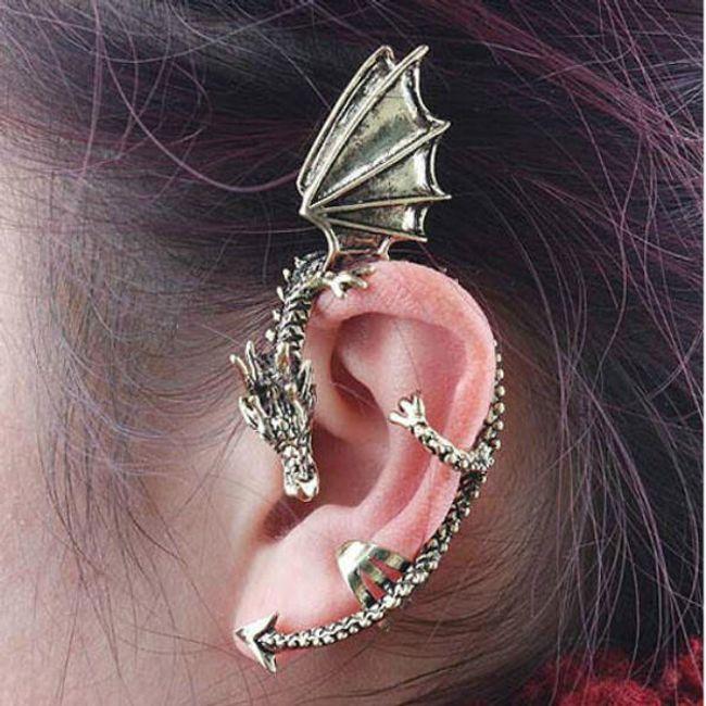 Minđuše u obliku zmaja - za celo uho 1