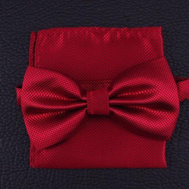 Szett - csokornyakkendő zsebkendővel