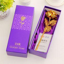 Роза със стъбло в злато - Различни цветове на цветята