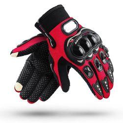 Motocyklové rukavice pre dámy a pánov  Červená - veľkosť L