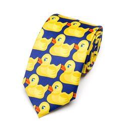 Cravată bărbătească cu rațe HL50