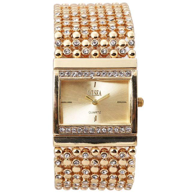 Dámské kovové hodinky s originálním páskem - 2 barvy 1