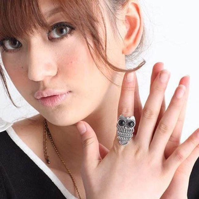 2 pierścionki z motywem sowy 1
