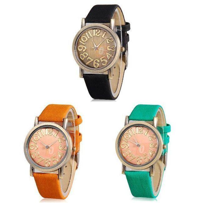 Nadčasové analogové hodinky ve 3 barvách 1