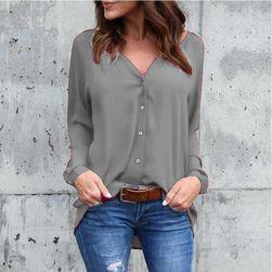 Женская блузка Hana- 8 цветов Серый- M