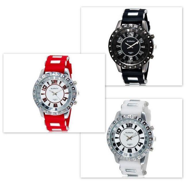 Unisex silikonové hodinky WOMAGE ve 3 barvách 1
