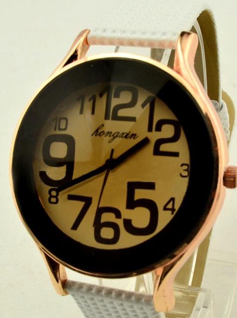 Zegarek na rękę z modną tarczą - unisex, 2 kolory  1