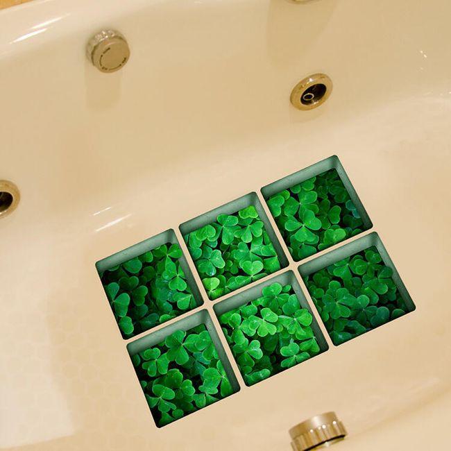 Csúszásmentes fürdőmatrica - Négylevelű lóhere 1