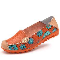Dámské boty s květinami - 4 barvy