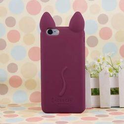 Borító macska füleivel és farkával 11 színben az iPhone 4 - 6S készülékhez