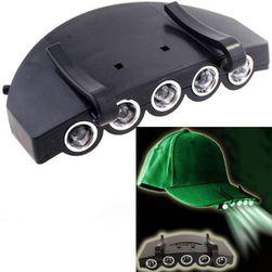 Lanternă cu 5 LED-uri pentru șapcă