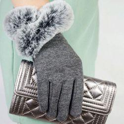 Dámské zimní rukavice s kožíškem - 5 barev
