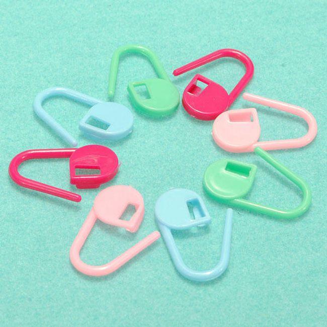 Barvne plastične sponke za ročna dela - komplet 30 kosov 1