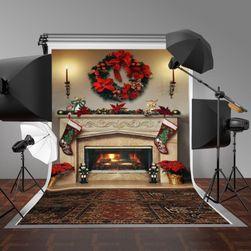 Fundal foto de studio de Crăciun - șemineu decorat