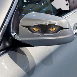 3D pencere çıkartması - Kedi gözleri 25 x 8 cm
