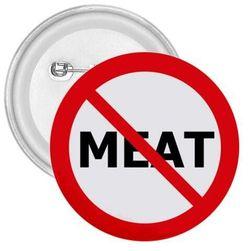 Kitűző No meat