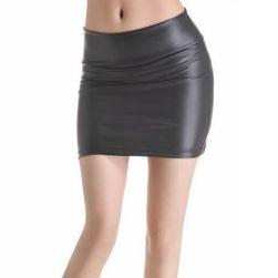 Damska spódnica ze skóry sztucznej