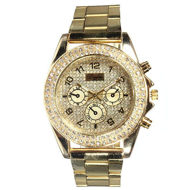 Zegarek z kamyczkami na tarczy 1