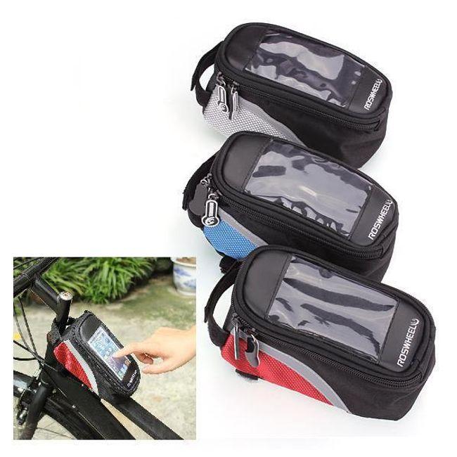 Borsetă bicicletă pentru telefon cu touchscreen 1