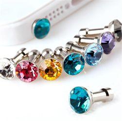 Ozdoba do konektoru sluchátek ve tvaru diamantu 10 ks