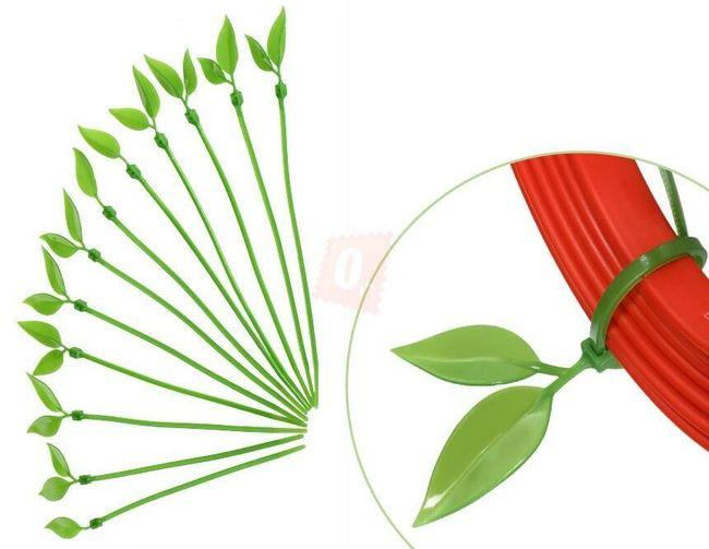 Univerzální stahovací pásky s motivem rostliny - 12 kusů 1