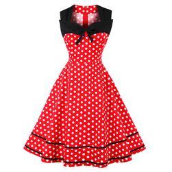 Sukienka retro w kropki - 4 kolory