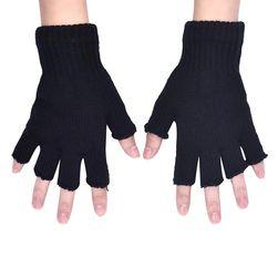 Безпръсти ръкавици в черно