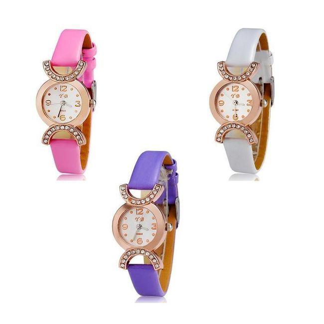 Stylové dámské hodinky - ve 3 barevných provedeních 1