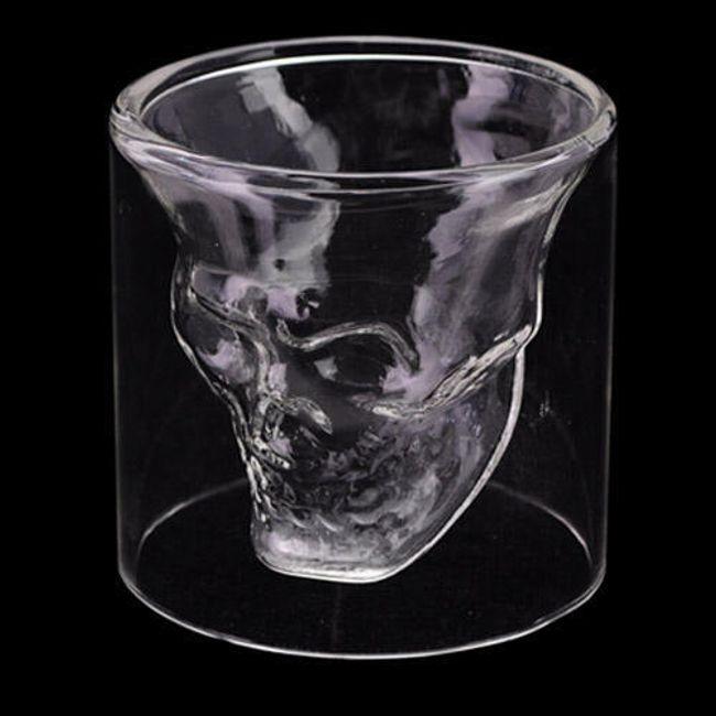 Szklanka do drinków z czaszką wewnątrz 1