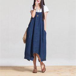 Volné džínové šaty - 2 v 1