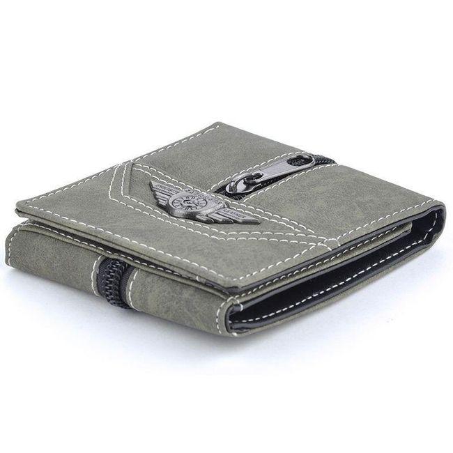 Férfi pénztárca dekoratív cipzárral - 3 szín
