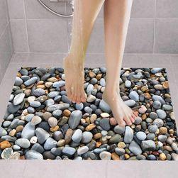 Fürdőszoba matrica - strand kövek