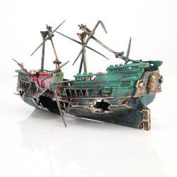 Decoratiune pentru acvariu - corabie