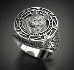 Мужское кольцо B09668