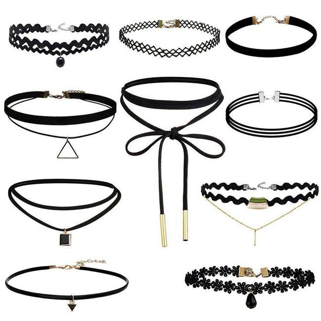 Set ženskih choker ogrlic - različne vrste 1