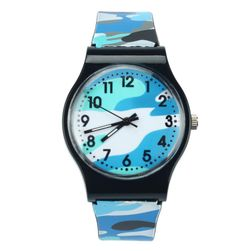 Silikonové hodinky s maskáčovým motivem - 5 barev
