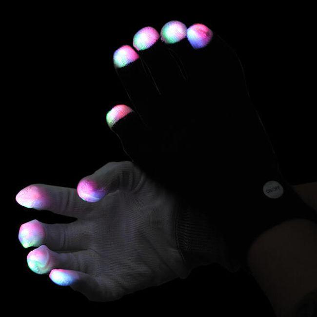 Rukavice se svítícími konečky prstů 1