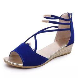 Dámské sandálky na klínku - 4 barvy