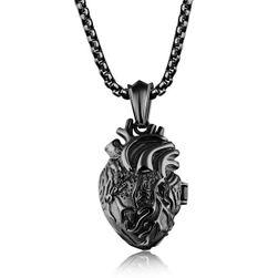 Nyaklánc medál alakú, emberi szív alakú - 3 szín