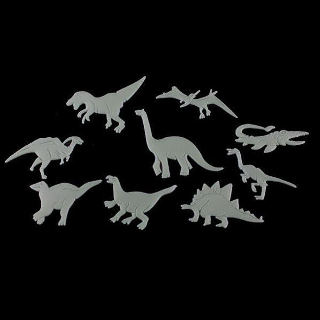 Светящиеся динозавры, настенный декор - 9 шт. 1