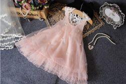 Dívčí šaty s perličkami - 3 barvy