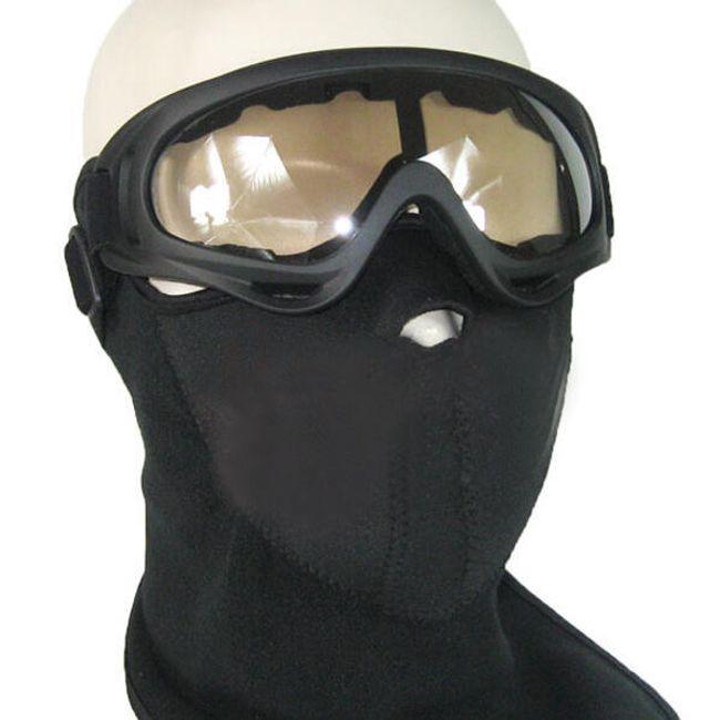 Motorkářské brýle černé + maska na obličej 1