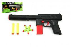 Pistolet na naboje piankowe 2szt + z zatyczką, 5szt plastikowy 30cm w pudełku RM_00312361