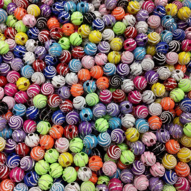 Декоративные бусины для рукоделия - 100 шт. 1