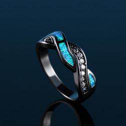 Ženski prsten sa plavim kamenjem - 1 kom