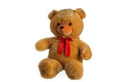 Medvěd plyš 100cm s mašlí světle hnědý hladký 0+ RM_56780146