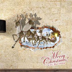 3D samolepljiva nalepnica za zid sa božićnim motivima