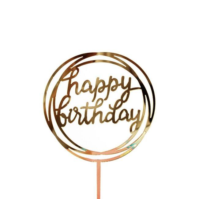 Pasta için doğum günü sembolü JOK102 1